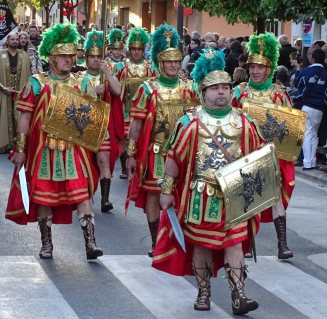 Costumed participants playing the part of Roman Centurions