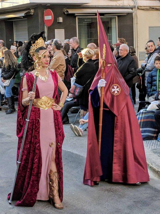 A costumed participant