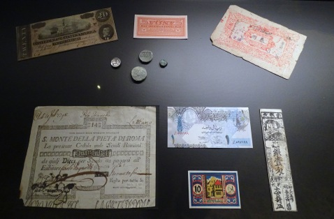 Early forms of paper money and coins