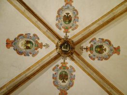 Ceiling decoration in the College of Corpus Christi