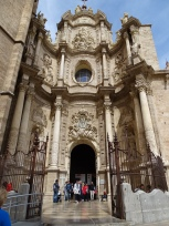 Facade of the Cathedral of Valencia
