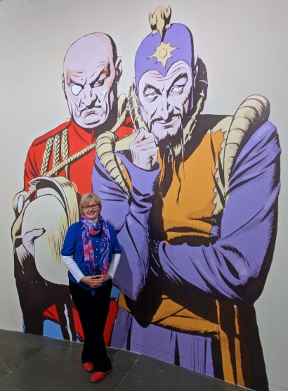 Julia posing with Ming the Merciless and the Kaiser