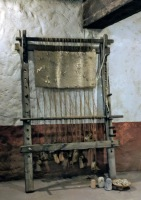A loom used to weave clothing