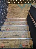 Topographical Map on the Stairs