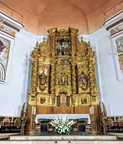 The altarpiece by the sculptor Vicente Benedito Baró 1947-1