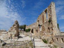 Preserved flooring, walls and battlements of the Castillo Mayor