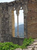 A window with a view in the Castillo Mayor
