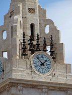 The Collegiate Basilica of Santa María tower and bells