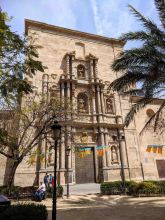 Church facade from the Plaza del Carmen