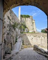 The main gate to the Castillo Menor looking back through the gate towards the Castillo Major.