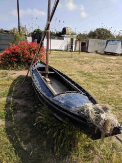 A felucca on display