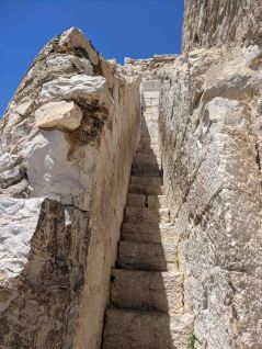 A very narrow staircase