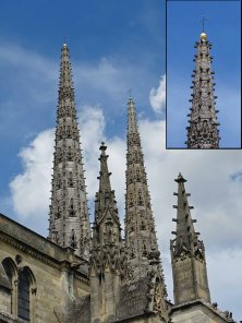 Phenomenal spires of Cathédrale Saint-André de Bordeaux