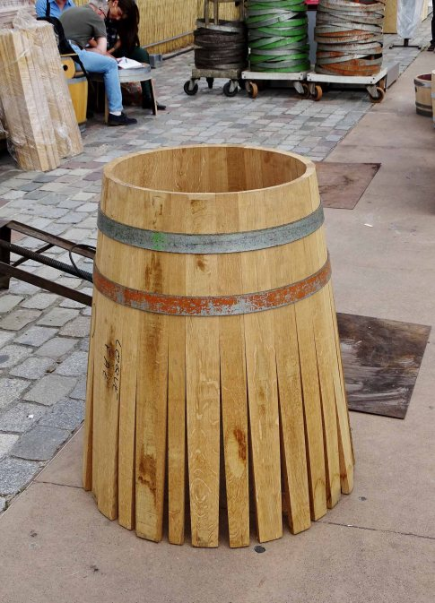 Cooperage (the making of barrels and casks) demonstration.