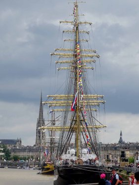 The four masts of the Kruzenshtern were simply beautiful