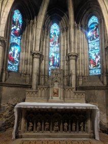 Alibaster Retable in the Chapel Saint Etienne