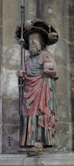 The Saint Jacques Apostle in Pilgrim's Outfit