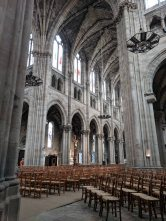 Looking across the Transept