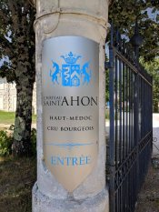 The main gate at Château Saint Ahon