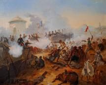 Captain Lelièvre's heroic defense at Mazagran