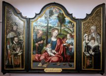 The Holy Family with donors