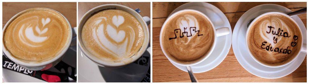 """A few """"Coffee con Leche"""" coffees"""