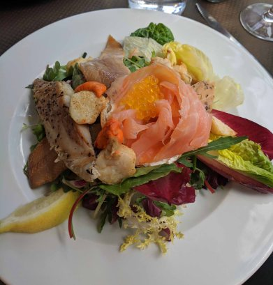 A wonderful smoked salmon salad