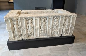 Marble coffin