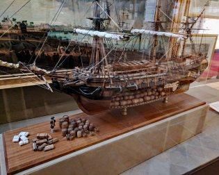 "Cutaway model of the ""Aurore"""