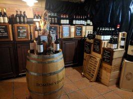 Wine Cellar at the Pizzeria Peppone restaurant