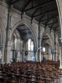 View of the side aisle