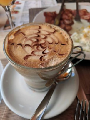 A fancy cappuccino
