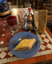 Moroccan tea and a sweet dessert