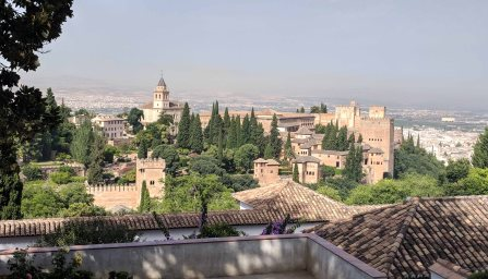A view of Alhambra from the Generalife Palace