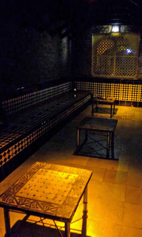 Arab Baths - the tea room