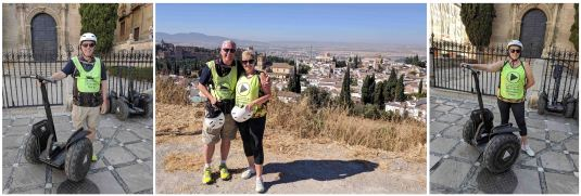 Segway Tour - view over the Albayzín (or Albaicín)