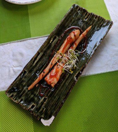 A shrimp appetizer