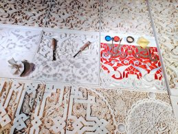 Making Moroccan tiles