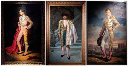 Three paintings of famous Spanish bullfighters