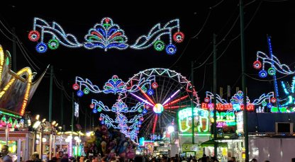 The Midway at night