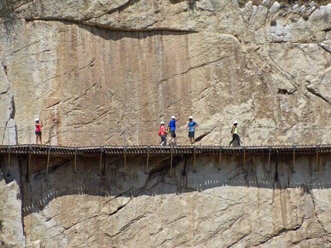 The boardwalk along the Gaitanejo Gorge
