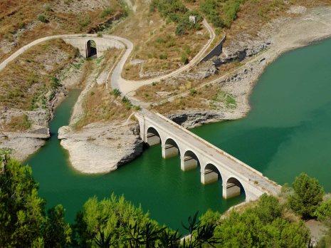 A Bridge (no longer used) over the Iznájar Reservoir