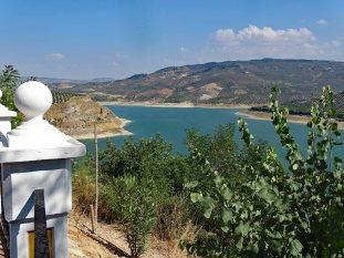 A view from Mirador del Postigo of the Iznájar Reservoir