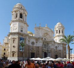 The facade of the Cádiz Cathedral