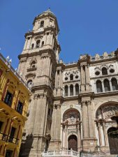 Facade of the Cathedral of Málaga