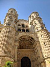 Facade of the Cathedral of Málaga