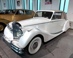 """JAGUAR INGLATERRA 1951 6 cyl. 120 hp 3500 cc. Modelo MK V 342 Litre """"Drophead"""""""