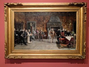 The last visit of Juan de Austria to Felipe II