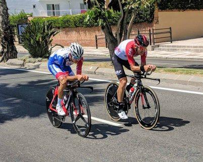 Cyclists participating in La Vuelta