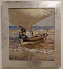 Fishermen Dragging their Boat